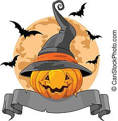 halloween, dynia, projektować