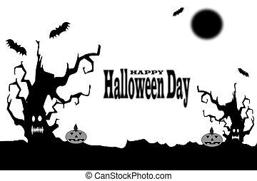halloween, dzień, tło