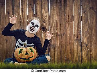 halloween, dziecko