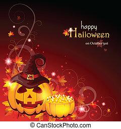 halloween, -, eps, tło, 10
