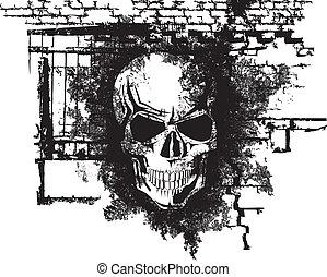 halloween, ludzka czaszka