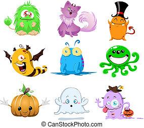 halloween, potwory, opakujcie