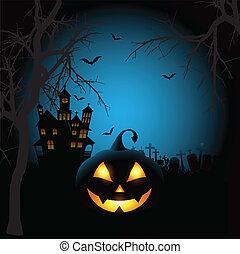 halloween, spooky, tło