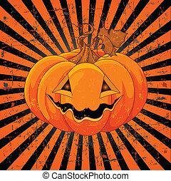 halloween, sprytny, dynia
