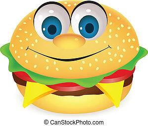 hamburger, litera, rysunek