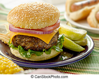 hamburger, mąka