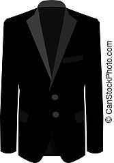 handlowa ilustracja, handlowy, garnitur, tło., suit., wektor, czarnoskóry dostosowują, biały, menu, człowiek
