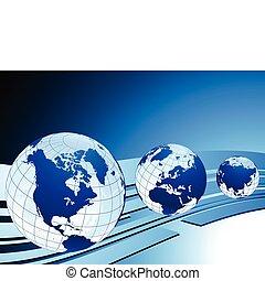 handlowa ilustracja, mapy, ideał, wektor, pojęcia, kule, oryginał