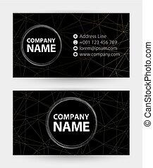 handlowa karta, abstrakcyjny, adres, website., czarnoskóry, telefon, poczta, karta, ikona