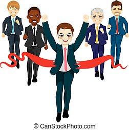 handlowe pojęcie, grupa, powodzenie, prąd