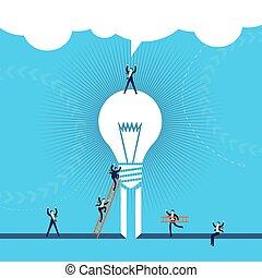 handlowe pojęcie, powodzenie, ilustracja, idea