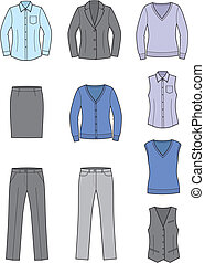 handlowe ubranie