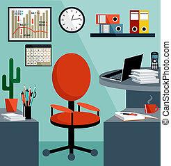 handlowe zaopatrzenie, objects., biuro, rzeczy, miejsce pracy