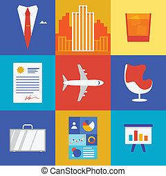 handlowy, bogactwo, ilustracja
