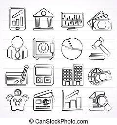 handlowy, finanse, bank, ikony