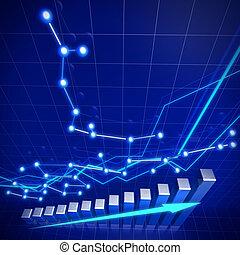 handlowy, finansowa sieć, wzrost, pojęcie
