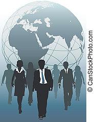 handlowy, globalny, emergent, drużyna, świat, zasoby