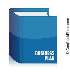 handlowy, książka, plan, porządek dzienny