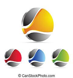 handlowy, logo, ikona