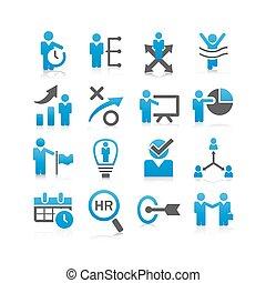 handlowy, ludzkie zasoby, ikona