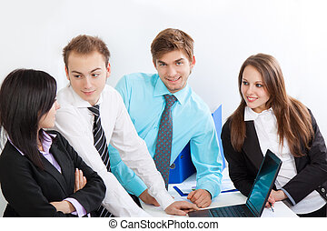 handlowy, młody, biurowe ludzie