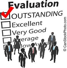 handlowy, najlepszy, ludzki, drużyna, ocena, zasoby