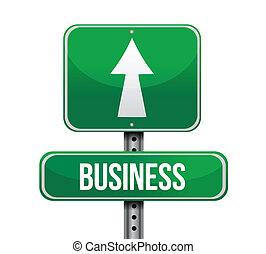 handlowy, projektować, droga, ilustracja, znak