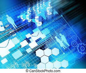 handlowy, przyszłość, sieć, tło