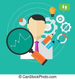 handlowy, spełnienie, ulepszenie, osoba, miara, pracownik, kpi, ulepszać