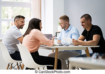 handlowy stół, spotkanie, konferencja