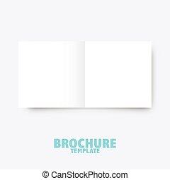 handlowy, wydawniczy, presentation., szablon, broszura, trifold