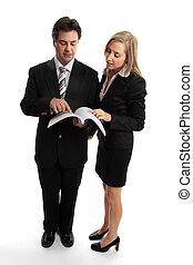 handlowy zaludniają, kontrakt, zameldować, czytanie, albo