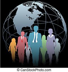 handlowy zaludniają, kula ryczałt, czarnoskóry, ziemia