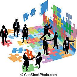 handlowy zaludniają, startup, problemy, rozwiązać, budować