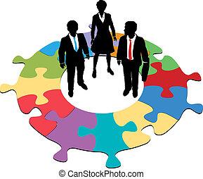 handlowy zaludniają, zagadka, rozłączenie, drużyna, okólnik