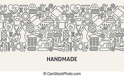 handmade, pojęcie, chorągiew