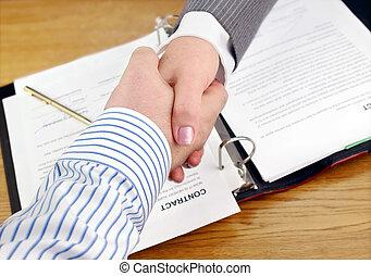 hands., ludzie handlowe, potrząsanie