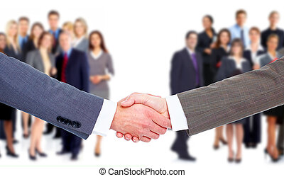 handshake., handlowy, meeting.