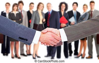 handshake., handlowy