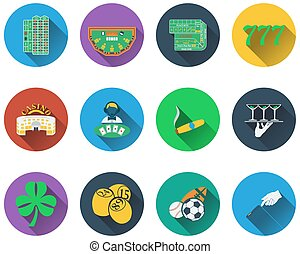 hazard, komplet, ikony