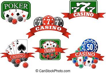 hazard, pula, pogrzebacz, kasyno, ikony