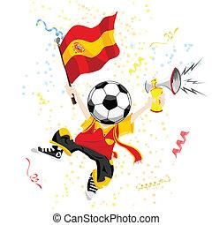 head., piłka do gry w nogę, miłośnik, hiszpania