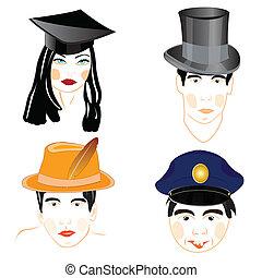 headdresses, osoby, ludzie
