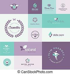 healthcare, komplet, piękno, ikony