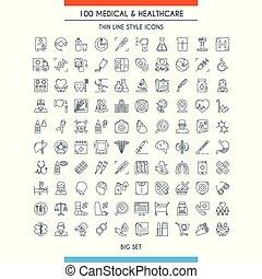 healthcare, medyczne ikony