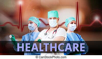 healthcare, tło, leczy