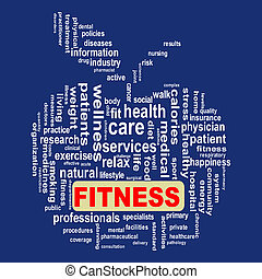 healthcare, wordcloud, pojęcie, jabłko, stosowność