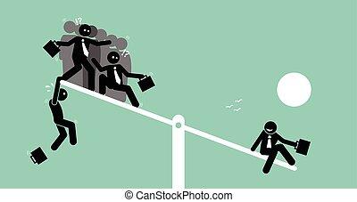 heavier, tabela, grupa, ludzie, jednorazowa osoba, huśtać się, i., outweighing, niż
