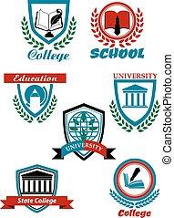 heraldyczny, symbolika, projektować, wykształcenie kolegium, uniwersytet