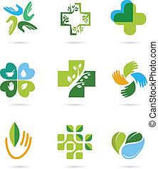 herbal medycyna, alternatywa, kasownik, ikony